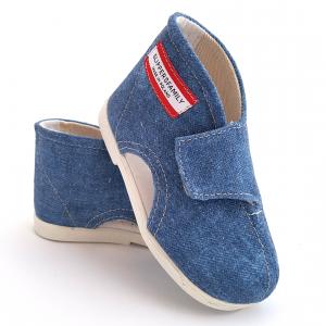 Kapcie dla dzieci na rzep Jeans PACIFIC