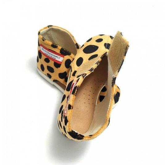 Kapcie dla dzieci na rzep NATURE Gepard