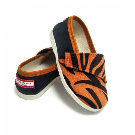 Buty dla dzieci na rzep nature LOWERKI Tygrys
