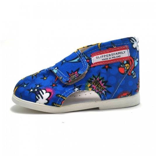 buty dziecięce profilaktyczne dla chłopców HERO Slippers Family