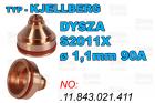 DYSZA S2011X - ø 1,1mm 90A-.11.843.021.411