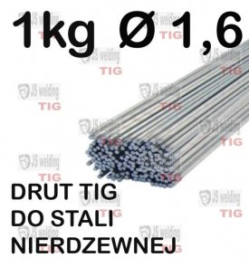 DRUT TIG DO STALI NIERDZEWNEJ Ø 1,6 mm