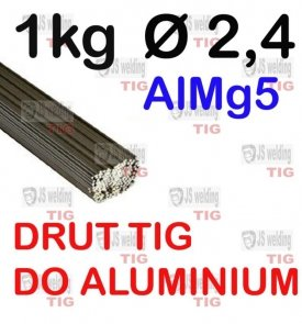 DRUT TIG AlMg5 DO ALUMINIUM  Ø 2,4 mm