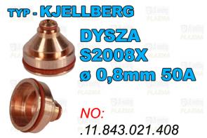 DYSZA S2008X - ø 0,8mm 50A-.11.843.021.408