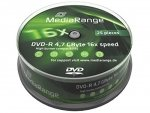 MediaRange DVD-R 4,7 GB 16x, 25 szt.