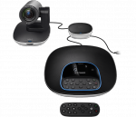 Logitech GROUP, Webcam czarny/srebrny