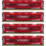 Ballistix Sport LT 64GB Kit DDR4 16GBx4 2400 MT/s DIMM 288pin red