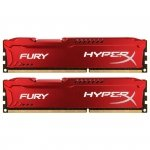 Kingston HyperX DIMM 8 GB DDR3-1600 Kit HX316C10FRK2/8, Fury-Serie