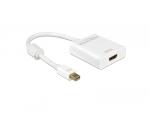 DeLOCK Adapter HDMI - Mini Displayport - 4K - 20cm - biały