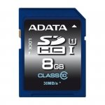 ADATA Secure Digital SDHC Card UHS-I 8 GB Class 10, Premier-Serie