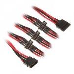 BitFenix Adapter Molex na 4x SATA 20 cm - czarno czerwony