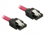 Delock Kabel SATA prosty/prosty red 20cm - 6Gb/s