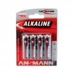 1x4 Ansmann Alkaline Mignon AA red-line