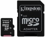 Kingston microSDXC Card 64 GB Class 10, inkl. Adapter
