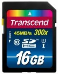 Transcend SD Card  SDHC 16GB Class 10 / UHS-I / 300x