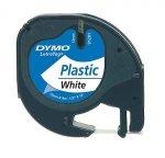 Dymo Letratag Plastic tape biały 12mm x 4m            91221