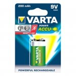 1 Varta Akku Power Accu 9V-Block Ready2Use NiMH 200 mAh