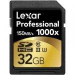 Lexar SDHC Card 32GB 1000x Professional UHS-II