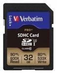 Verbatim SDHC Card Pro+ 32GB Class 10 UHS-I