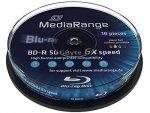 MediaRange BD-R 50 GB 6x, 10 szt., printable