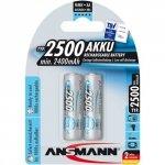 1x2 Ansmann maxE NiMH Akku 2500 Mignon AA 2400 mAh