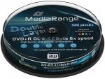 MediaRange DVD+R DL 8,5 GB 8x, 10 szt., printable