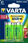 1x2 Varta Akku Power Accu C Baby Ready2Use NiMH 3000 mAh