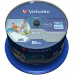 1x50 Verbatim BD-R Blu-Ray 25GB 6x Speed DL Wide Printable CB