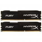 Kingston HyperX DIMM 16 GB DDR3-1600 Kit HX316C10FBK2/16, Fury-Serie