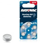 Rayovac Acoustic Special 675 Hearing Aid Batteries      6 pcs
