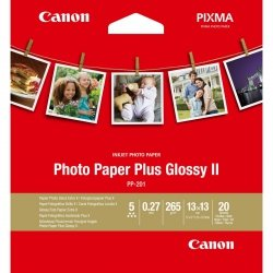 Canon PP-201 13x13 cm 20 Sheets Photo Paper Plus Glossy II 265 g