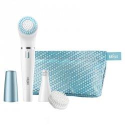 Braun FaceSpa 832e Sensitive Beauty Depilacja twarzy + szczotka  + etui turkus