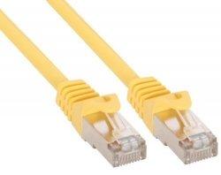 InLine 0,5m Kabel krosowy 100 Mbit RJ45 - żółty