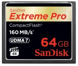 SanDisk Extreme Pro CF      64GB 160MB/s         SDCFXPS-064G-X46