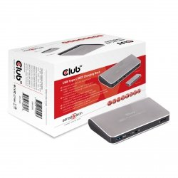 Club3D Adapter USB 3.0 Typ C > 3x USB 3.0/USB-C Charg.Dock retail