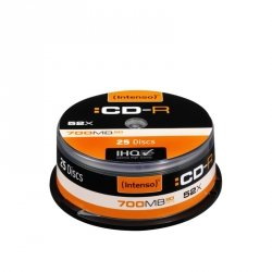 1x25 Intenso CD-R 80 / 700MB 52x Speed, Cakebox Spindel