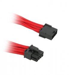 Przedłużacz BitFenix 8-Pin PCIe 45cm - opływowy czerwono czarny