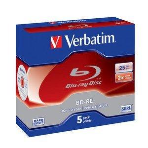 Verbatim BD-RE 25 GB 2x, 5 szt., bia