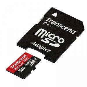 Transcend MicroSDHC Card    32GB + Adapter / Class 10 UHS-I