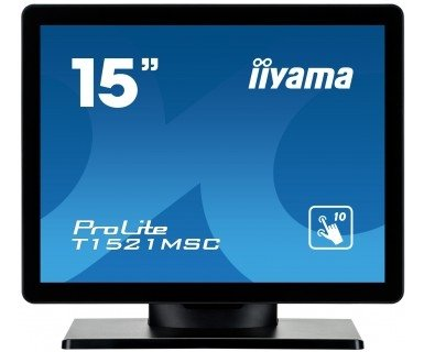 iiyama T1521MSC-B1, LCD-Monitor czarny, VGA, Touchscreen, Lautsprecher