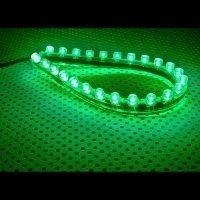 Lamptron FlexLight Standard - pasek 24x LED - zielony