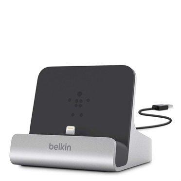 Belkin Lightning Lade/Sync-Dock silver/bk - F8J088BT