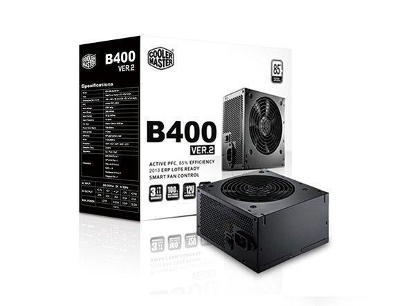 Cooler Master B400 ver.2, czarny, 1x PCIe