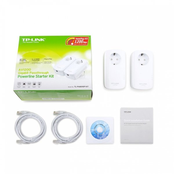 TP-LINK TL-PA8010P KIT AV1200-Gigabit-Powerline-Adapter KIT