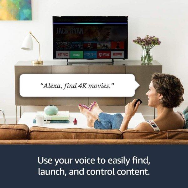 Amazon Fire TV Stick 4K (Alexa Voice + Pilot) Dolby Atoms HDR10+