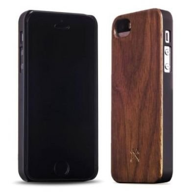 Woodcessories EcoCase Classic iPhone 5 5s SE walnut+black