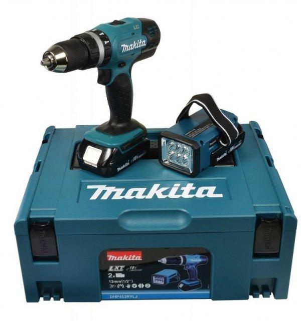 Makita Wkretarka akumulatorowa DHP453RYLJ 18V blue