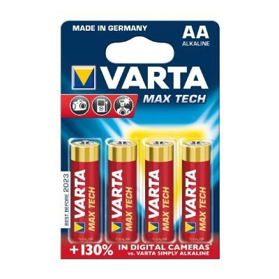 1x4 Varta Max Tech Mignon AA LR 6 German
