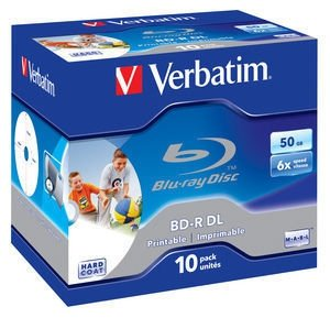 Verbatim BD-R 50 GB 6x, 10 szt., printable