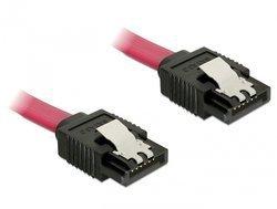 Delock Kabel SATA prosty/prosty red 30cm - 6GB/s